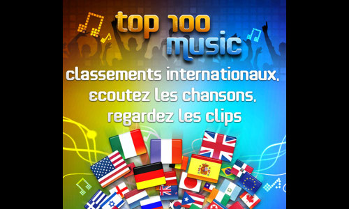 top 100 Tous les Charts du monde grâce à l'application Top 100 Music