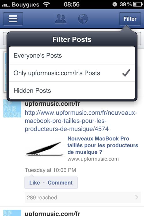 application facebook pages4 Application iPhone : Facebook pour les Pages Fans