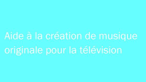 Aide à la création de musique originale pour la télévision