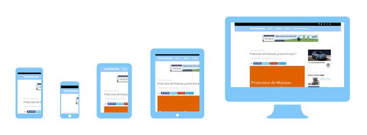 exemple de sites internet reponsives