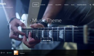 theme wordpress pour artiste