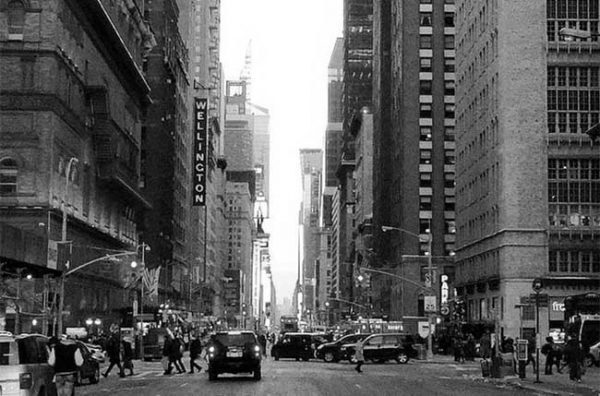 Photo de New York en noir et blanc