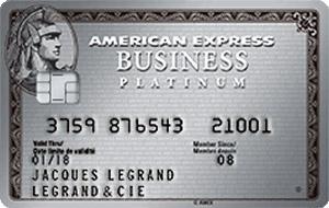 Carte American Express Business Platinum